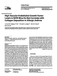 High Vascular Endothelial Growth Factor Levels in