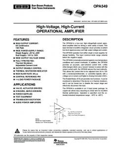 High-Voltage, High-Current Operational ... - Texas Instruments