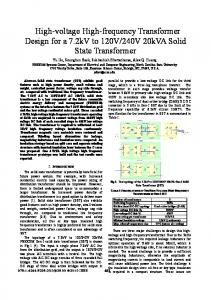 High-voltage High-frequency Transformer Design for