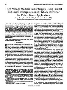 High-Voltage Modular Power Supply Using Parallel and ... - IEEE Xplore