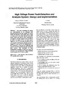 High Voltage Power Fault-Detection and Analysis System - IEEE Xplore