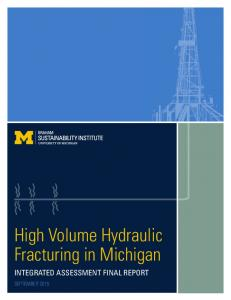 High Volume Hydraulic Fracturing in Michigan