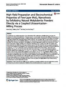 High-Yield Preparation and Electrochemical ... - Semantic Scholar