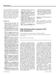 High yield preparation of genomic DNA from ...