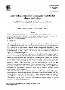 High yielding synthesis of heterocyclic 13-substituted alanine derivatives