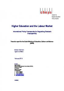 Higher education and the labour market : international policy ...