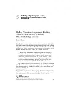Higher education assessment: Linking ... - Wiley Online Library