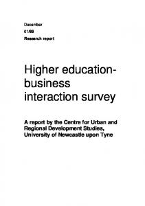 Higher education- business interaction survey