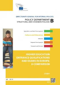 Higher Education Entrance Qualifications and ... - European Parliament
