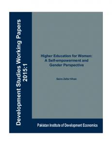 Higher Education for Women: A Self-empowerment and Gender