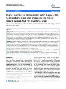 Higher number of Helicobacter pylori CagA EPIYA C ... - Springer Link