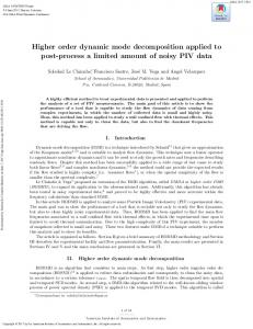Higher order dynamic mode decomposition applied to