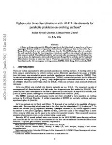 Higher-order time discretizations with ALE finite elements for parabolic ...