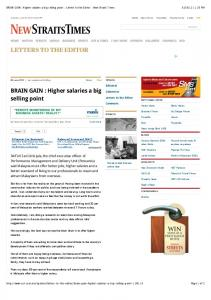 Higher salaries a big selling point - Letters to the Editor