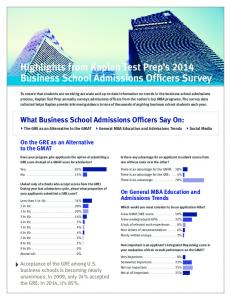 Highlights from Kaplan Test Prep's 2014 Business School ...