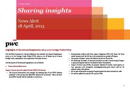 Highlights of Annual Supplement 2013-14 to Foreign Trade Policy