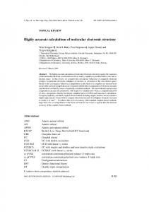Highly accurate calculations of molecular electronic structure