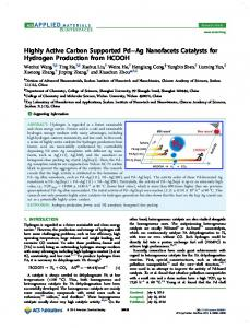 Highly Active Carbon Supported Pd-Ag Nano-Facets Catalysts for ...