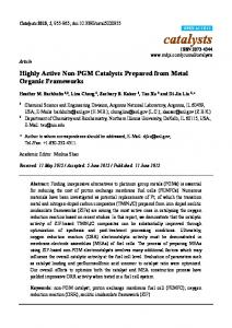 Highly Active Non-PGM Catalysts Prepared from Metal Organic ...