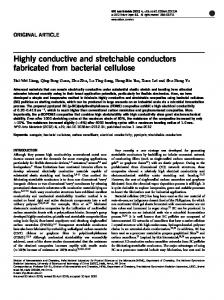 Highly conductive and stretchable conductors fabricated from ... - Nature