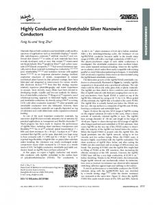 Highly Conductive and Stretchable Silver Nanowire ... - NCSU MAE