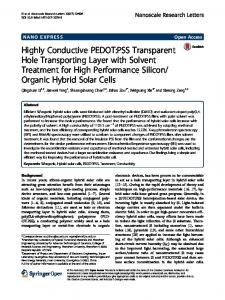 Highly Conductive PEDOT:PSS Transparent Hole