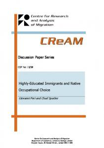 Highly-Educated Immigrants and Native Occupational Choice
