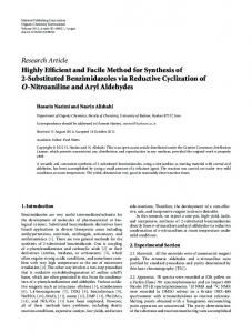 Highly Efficient and Facile Method for Synthesis of 2-Substituted ...