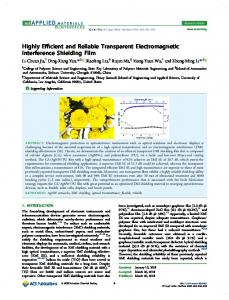Highly Efficient and Reliable Transparent ... - ACS Publications
