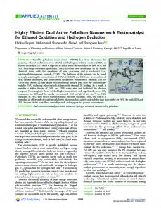 Highly Efficient Dual Active Palladium ... - ACS Publications