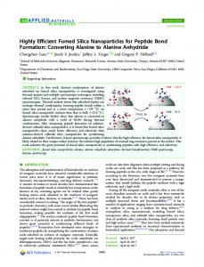 Highly Efficient Fumed Silica Nanoparticles for ... - ACS Publications