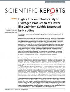Highly Efficient Photocatalytic Hydrogen Production of Flower-like