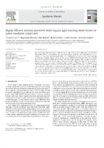 Highly efficient solution-processed white organic light