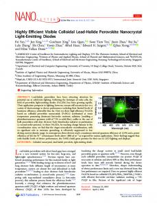 Highly Efficient Visible Colloidal Lead-Halide ... - ACS Publications