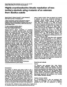 Highly enantioselective kinetic resolution of two ... - Semantic Scholar