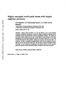 Highly entangled multi-qubit states with simple algebraic structure
