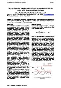Highly improved uplink transmission in bidirectional ... - IEEE Xplore
