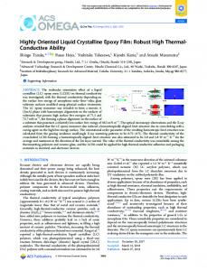 Highly Oriented Liquid Crystalline Epoxy Film ... - ACS Publications