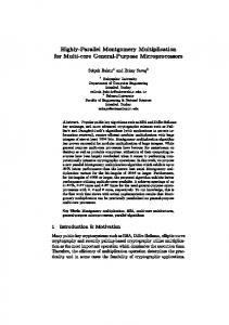 Highly-Parallel Montgomery Multiplication for Multi-core General ...