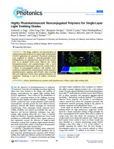 Highly Photoluminescent Nonconjugated Polymers ... - ACS Publications