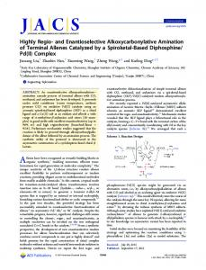 Highly Regio- and Enantioselective Alkoxycarbonylative Amination of