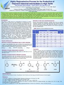 Highly Regioselective Process for the Production of ...