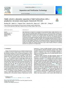 Highly selective adsorption separation of light