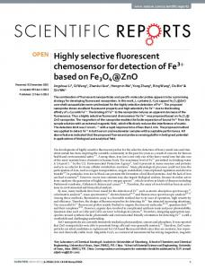 Highly selective fluorescent chemosensor for