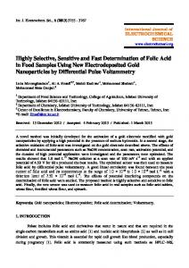 Highly Selective, Sensitive and Fast Determination of Folic Acid in