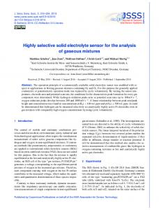 Highly selective solid electrolyte sensor for the analysis of ... - JSSS
