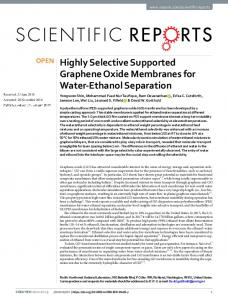 Highly Selective Supported Graphene Oxide