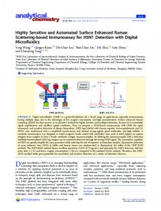 Highly Sensitive and Automated Surface Enhanced