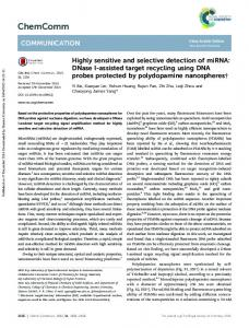 Highly sensitive and selective detection of miRNA