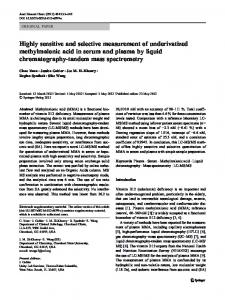 Highly sensitive and selective measurement of ... - Springer Link